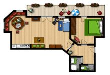 Apartment TYPE C - 44 m2: