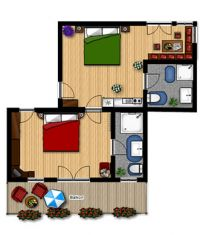 Apartment TYPE D - 45 m2:
